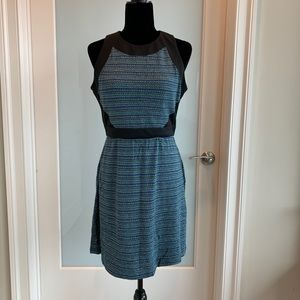 Phoebe Couture black and blue zippered back dress